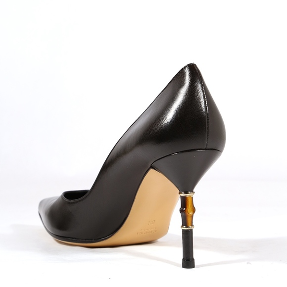 878c9d78764 Gucci Shoes - Gucci Black Pumps Bamboo Heel Detail