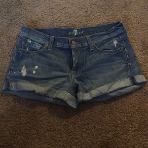 7 for all mankind denim shorts. Size 27.