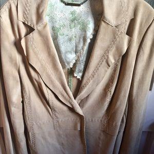 Jackets & Blazers - ELIE TAHARI - LAMB SUEDE JACKET