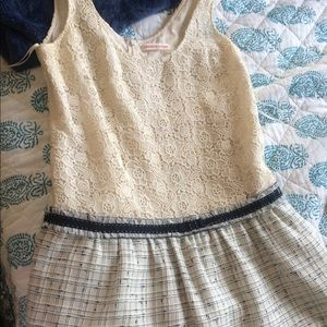 Rebecca Taylor beautiful lace and tweed work dress