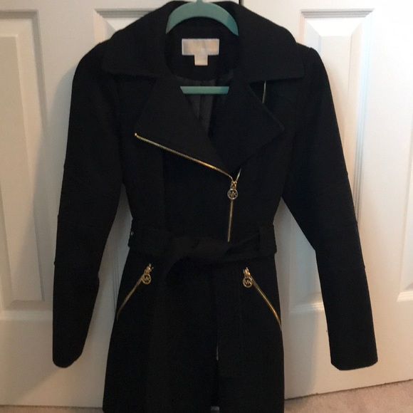 62% off Jackets & Blazers - Michael Kors black petite coat from ...
