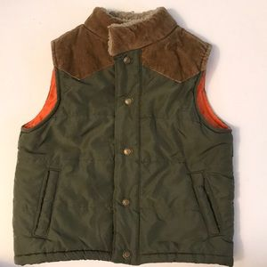 Carter's Boys' Size 5T Green Vest W/ Corduroy Trim
