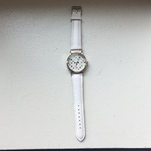 Accessories - Watch from Geneva in fun polka dot pattern