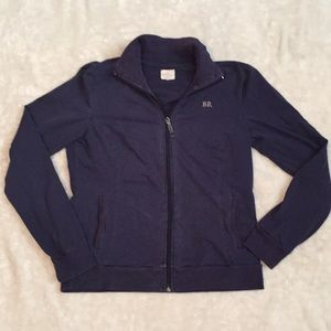 Banana Republic zip up navy blue sweatshirt