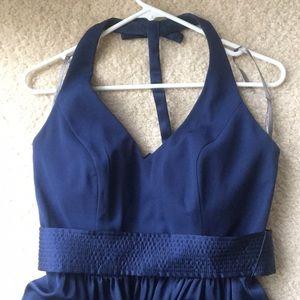 b330494adcfc6 David's Bridal Dresses - David's Bridal Vera Wang v-neck halter gown sash