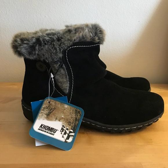 1abde6a1d18 Khombu Gracie Suede Ankle Winter Boots Faux Fur