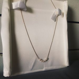 """Jewelry - 14K Gold """"Start Her"""" Necklace with Pearls"""