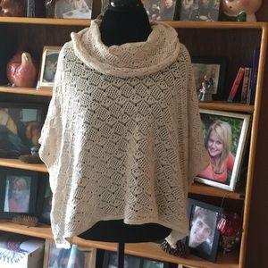 Beautiful Cotton Lace Cowl Neck Sweater