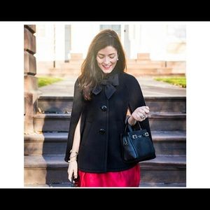 Kate Spade Wool Bow Capelet