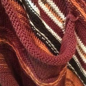 Elan fringe long cardigan sweater