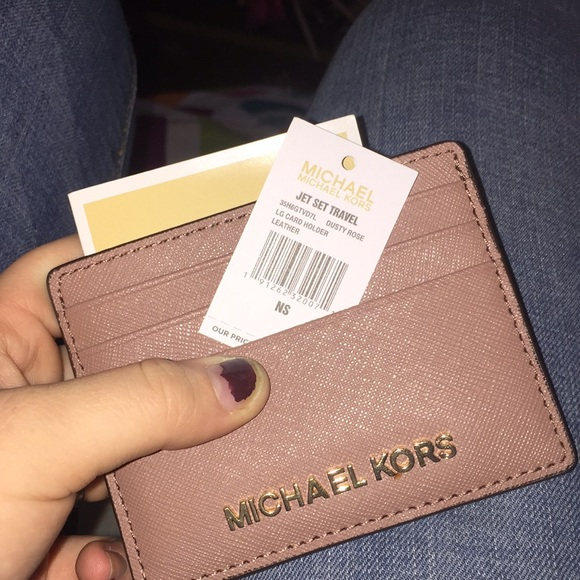 64a73e498ff81a Michael Kors Bags | New Authentic Mk Dusty Rose Card Holder | Poshmark