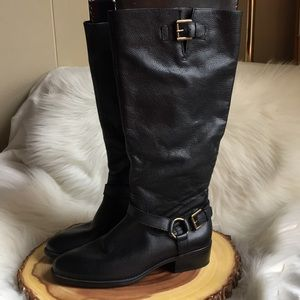 Ralph Lauren soft pebbled leather boots