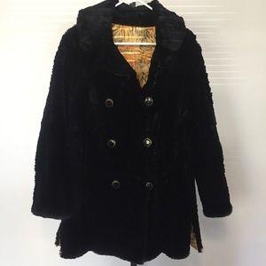 Jackets & Blazers - Vintage Black Fur Coat