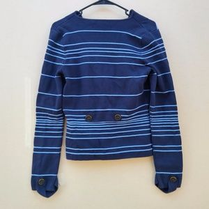 CACHE Cardigan Stripes 2 Buttons Front