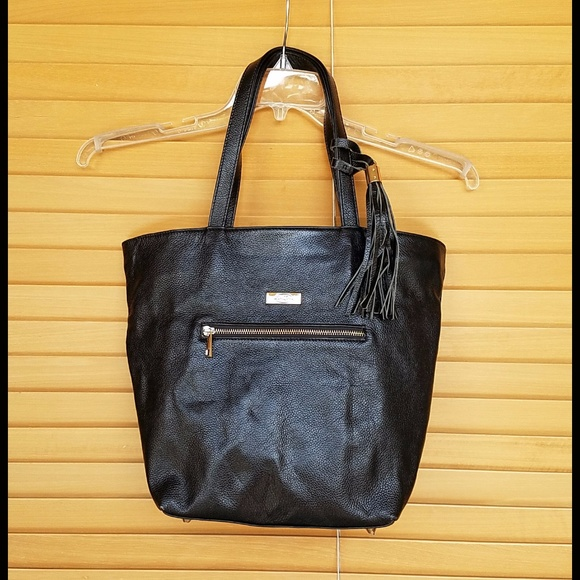 Onna Ehrlich Bags   Carrie Tote In Black Leather   Poshmark 7744a0893e