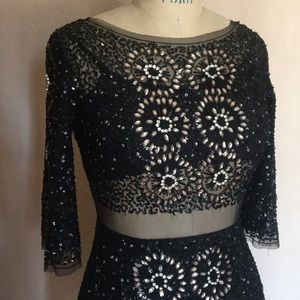 Topshop dress with Sequins and sheer cut out