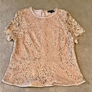 Adrianna Papell peplum lace top