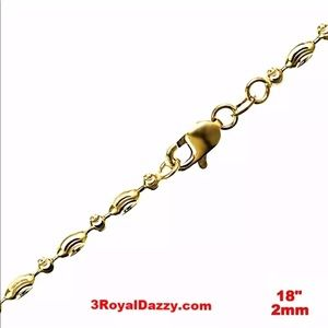 Jewelry - 14K Yellow Gold layered 925 Necklace 18""