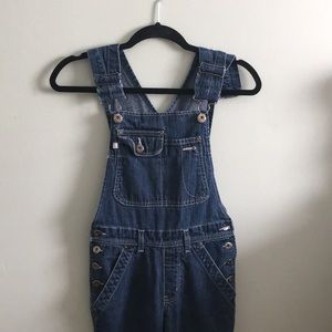 Vintage Silver Jeans Overalls