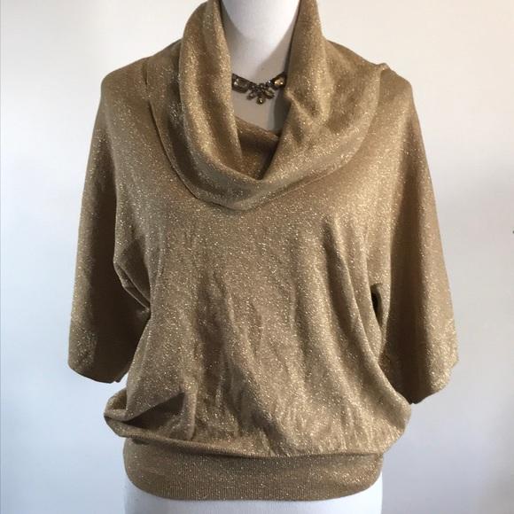 bf2f656be2 M Kors Metallic gold cowl sweater size large. M 5a22fb7f3c6f9f5b5703de76