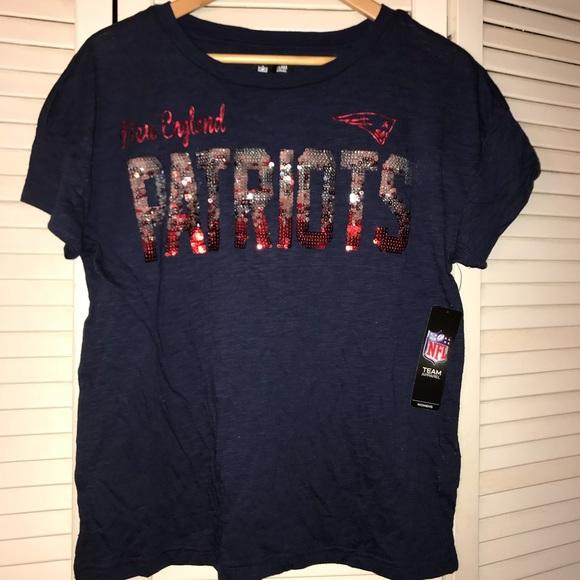 Sequin New England Patriots T-Shirt e1fbfb4cb
