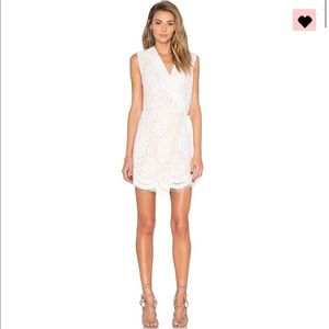 NWT Endless rose white lace wrap dress NEVER WORN!