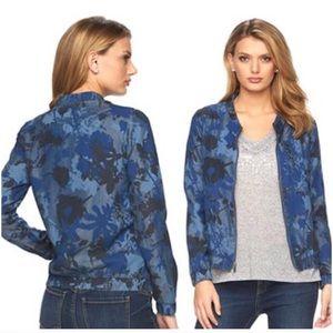 Juicy Couture Denim Floral Camo Bomber Jacket