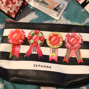 Sephora makeup case w/ sample size makeup & parfum