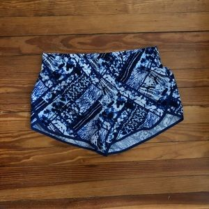 Danskin blue workout shorts, size M