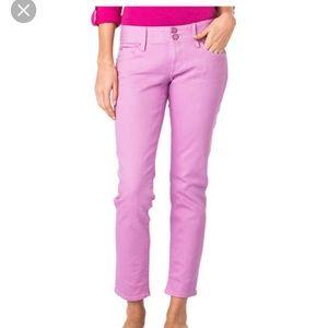 Lily Pulitzer Hot Pink Worth Skinny Mini Jeans