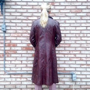 • the vintage leather trench