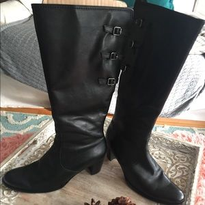Used, [Gabor Comfort] Black calf boots for sale