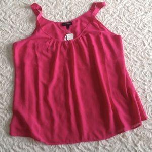 NWT Lane Bryant Fuchsia Chiffon Shirt Top Size 26