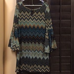 MSK dress with bell sleeves