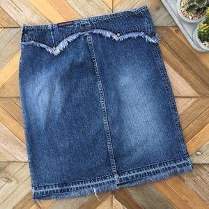 •GUESS• Vintage 90s Blue Denim Skirt