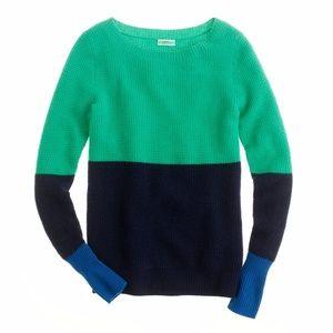 JCrew small color block sweater