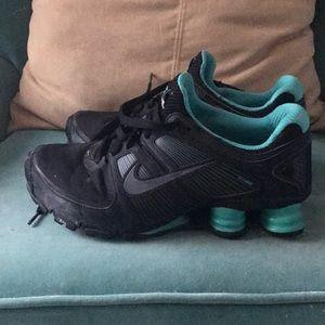 Nike Shoes - Teal and black Nike shocks turbo 11 808fdd57c83e
