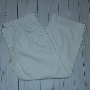 Express White Crop Capri Pants