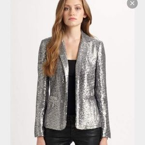 Michael Michael Kors silver sequin blazer