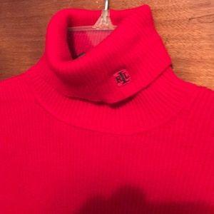 Lauren Ralph Lauren Red Turtleneck Sweater-Sz XS