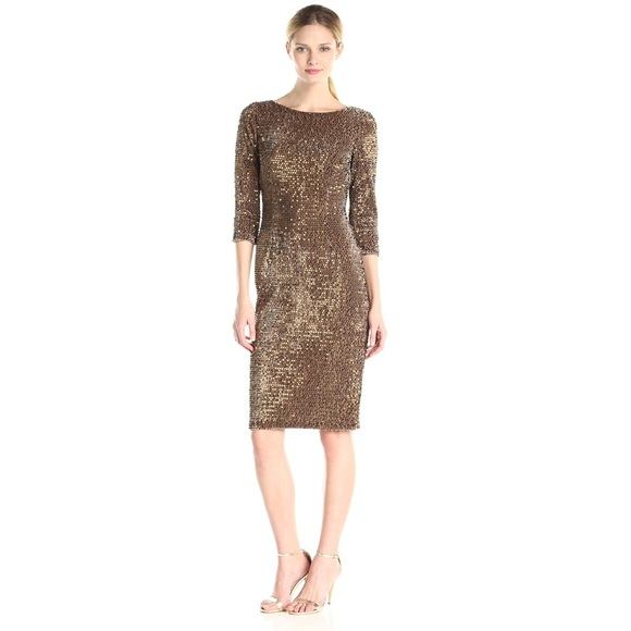 462b07cb Eliza J Dresses | Sequin Velvet Sheath Dress | Poshmark