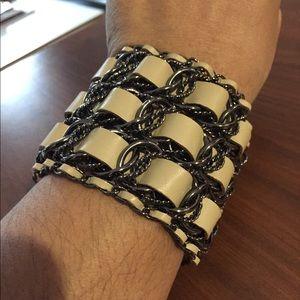 Nine West leather & Chain bracelet