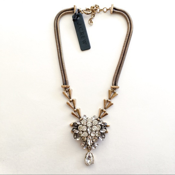 J Crew Jewelry Jcrew Wedding Crystal Statement Necklace Poshmark