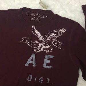  NWT American Eagle Thermal Long Sleeved Shirt M