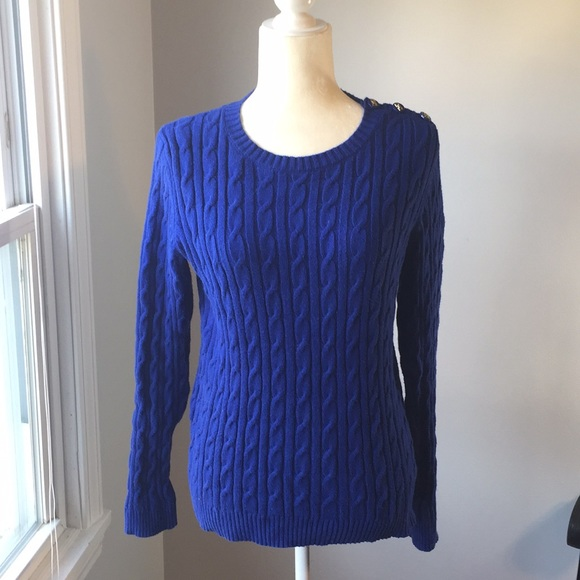 Charter Club - Charter club royal blue cable knit sweater from ...