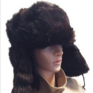 Accessories - Vintage genuine fur Russian trapper hat