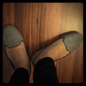 Suede ballet flats/loafers