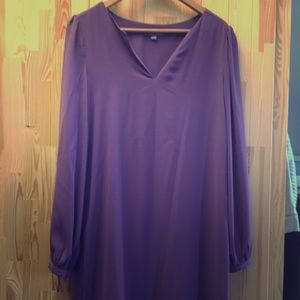 Tinley Road purple long sleeve purple sheath dress