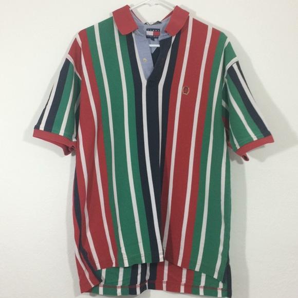 0701fa9ba Tommy Hilfiger Shirts   Vintage Tommyhilfiger Bluegreenred Stripe ...