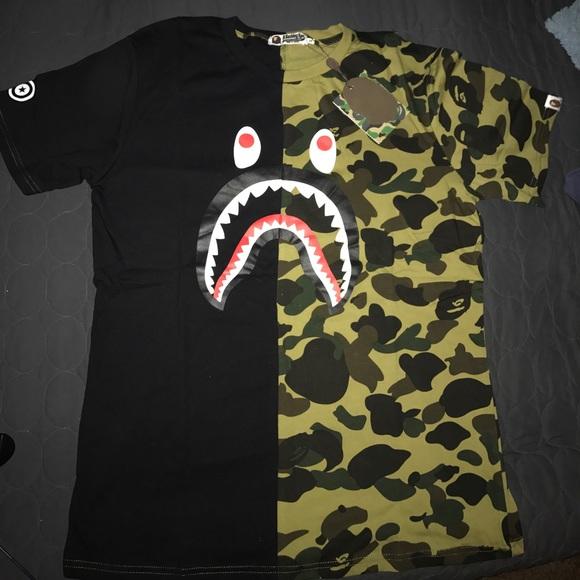 550a2e1b2 Bape Shirts | Shark Face Shirt | Poshmark
